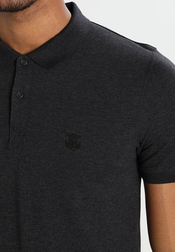 Selected Homme Koszulka polo - dark grey melange/ciemnoszary Odzież Męska GFDV