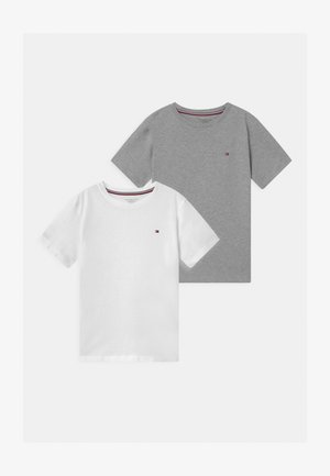 2 PACK  - T-shirt - bas - grey