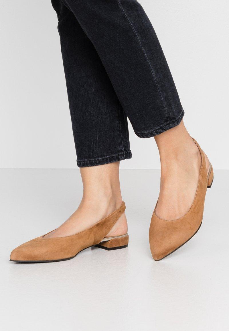Maripé - Slingback ballet pumps - sellaluxor/oro chiaro