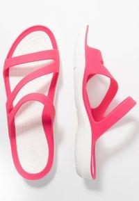 Crocs - SWIFTWATER - Sandały kąpielowe - paradise pink/white - 3