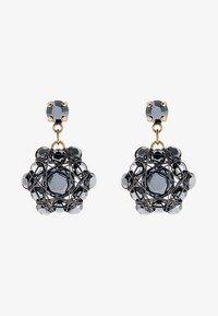 Konplott - Earrings - black/antique brass - 1