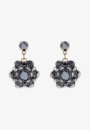 Earrings - black/antique brass
