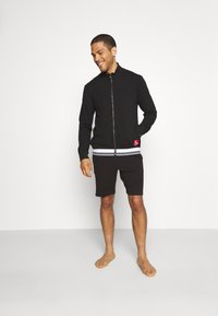 Calvin Klein Underwear - FULL ZIP - Huvtröja med dragkedja - black - 1