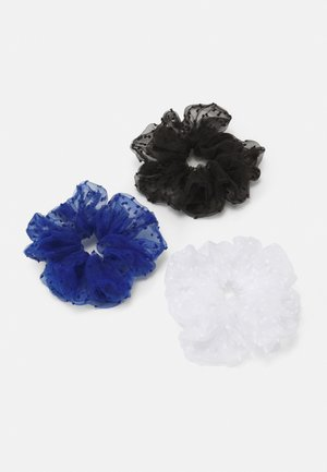 PCSAWYER OVERSIZED SCRUNCHIE 3 PACK - Hair styling accessory - black/navy/white