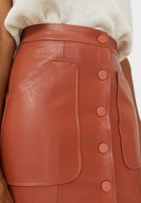 Stradivarius - Leather skirt - brown - 3