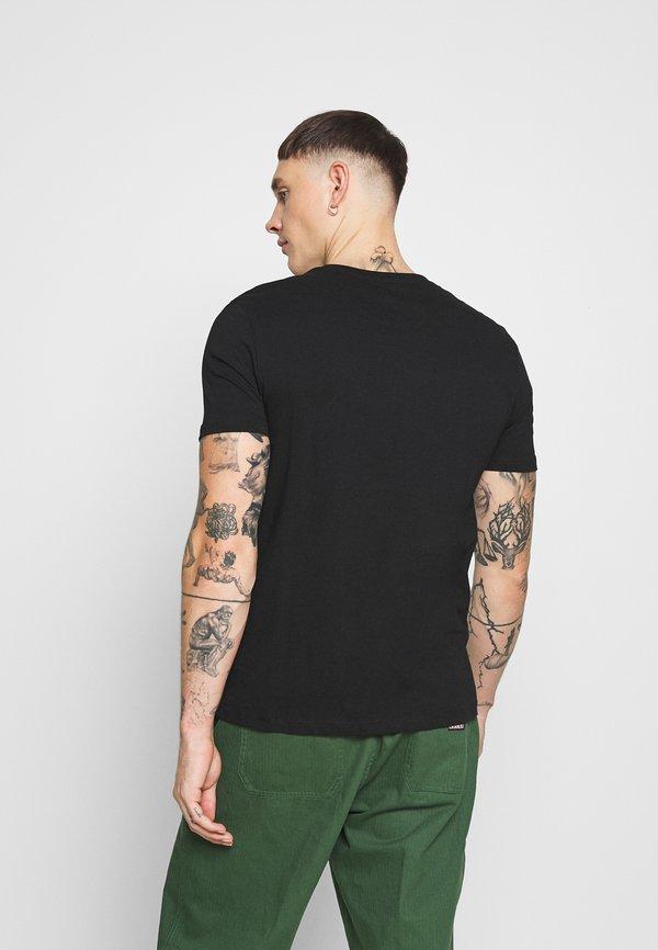 Burton Menswear London 2 PACK - T-shirt basic - black, bordeaux/czarny Odzież Męska OPHU