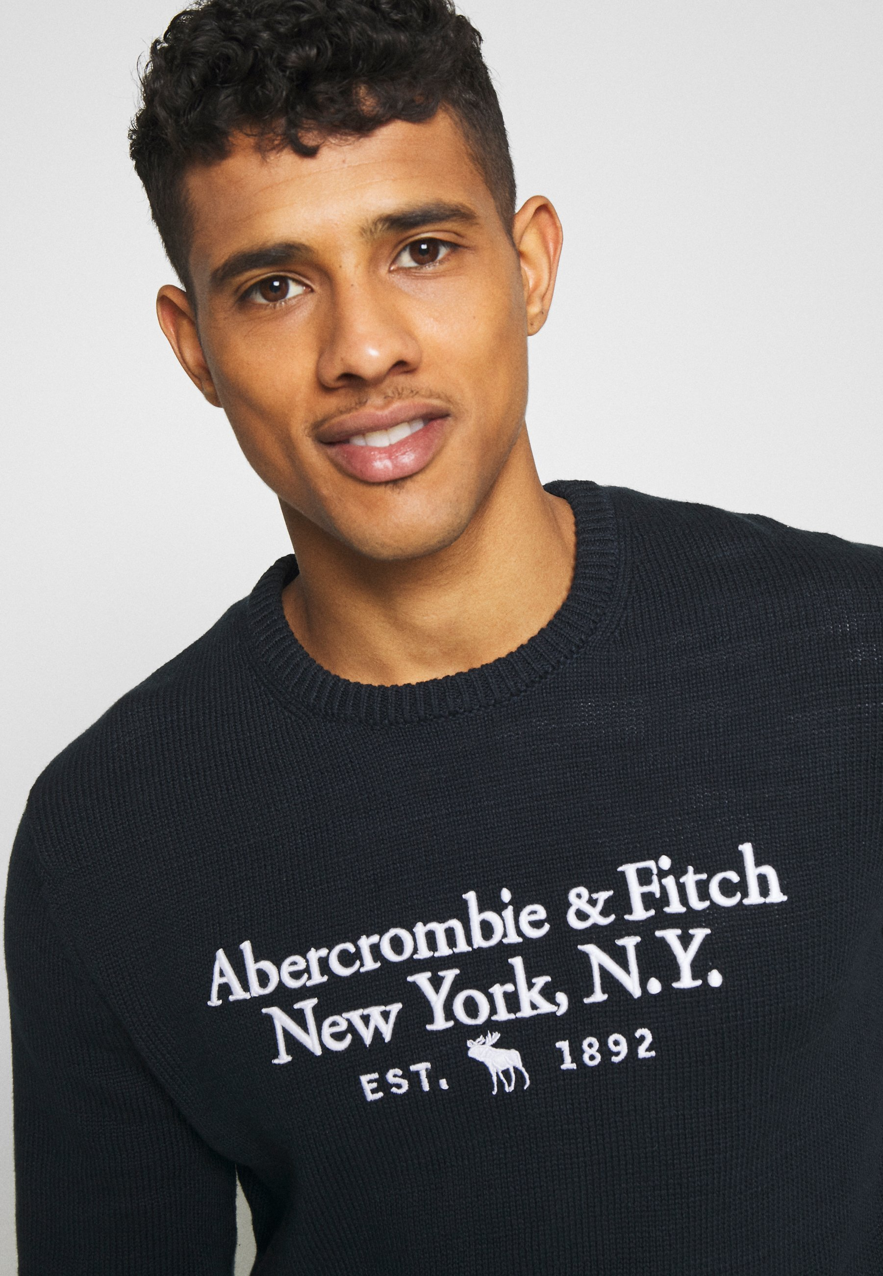 Abercrombie & Fitch ELEVATED - Pullover - washed navy