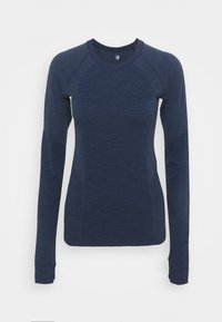 Sweaty Betty - ATHLETE SEAMLESS WORKOUT - Long sleeved top - navy blue - 3
