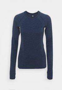 ATHLETE SEAMLESS WORKOUT - Långärmad tröja - navy blue