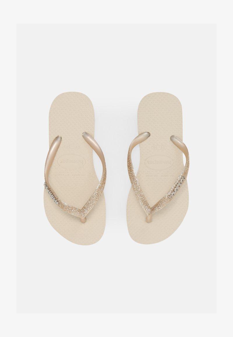 Havaianas - GLITTER II - T-bar sandals - beige