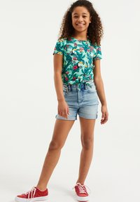 WE Fashion - JUNGLEDESSIN - Print T-shirt - green - 0