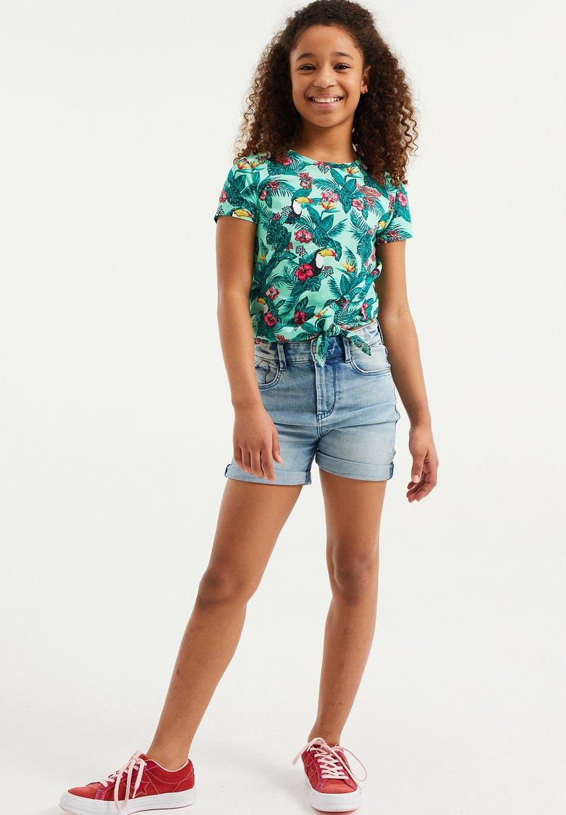 WE Fashion - JUNGLEDESSIN - Print T-shirt - green