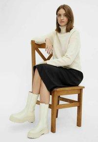 Bianco - BIADEB LONG BOOT - Platform boots - ice - 1