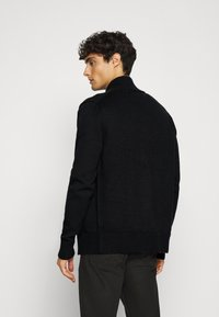 Tommy Hilfiger - CHUNKY ZIP THROUGH - Cardigan - black - 3