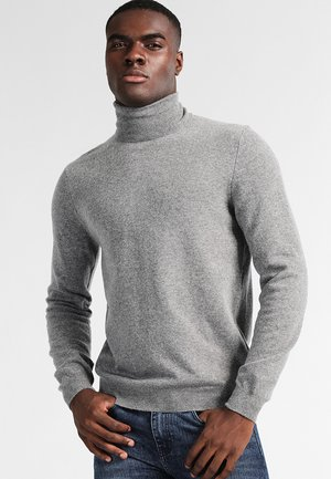 BASIC ROLL NECK - Pullover - grau