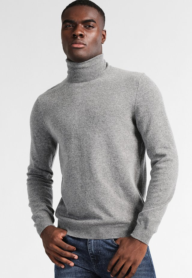 BASIC ROLL NECK - Sweter - grau