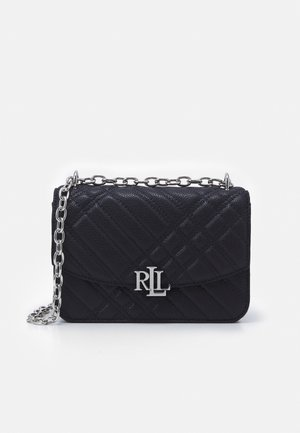 PLAID QUILTD PEBBLE MADISON - Across body bag - navy