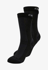 WARM MID 2 PACK - Chaussettes de sport - black/white