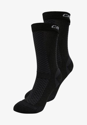 WARM MID 2 PACK - Calze sportive - black/white