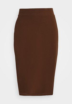 Pouzdrová sukně - dark brown