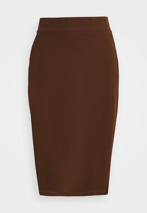 Blyantnederdel / pencil skirts - dark brown