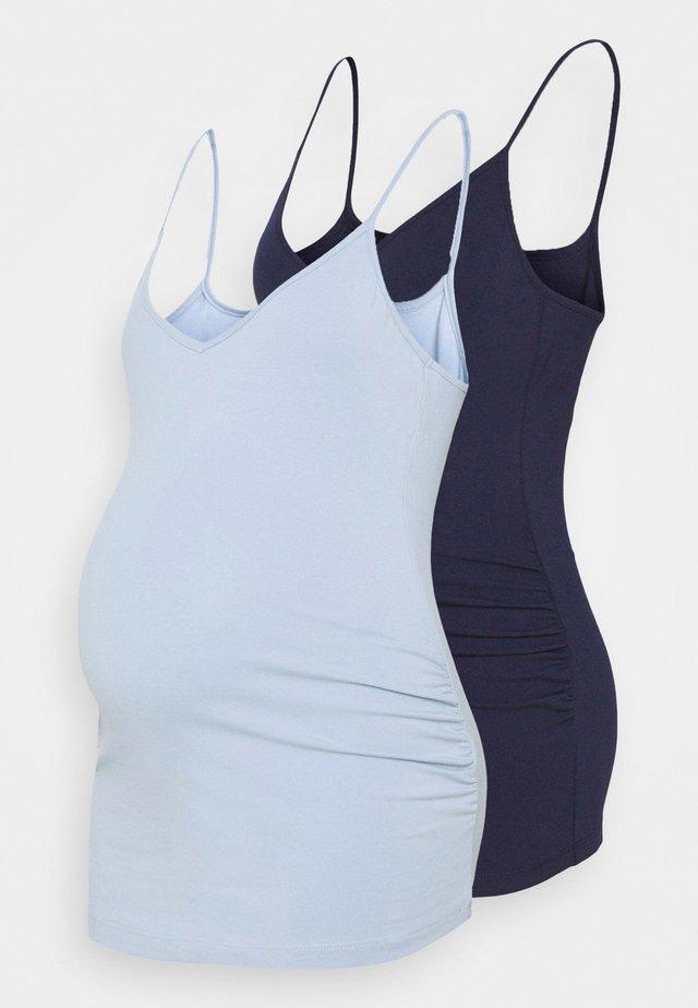 2 PACK - Top - dark blue/light blue