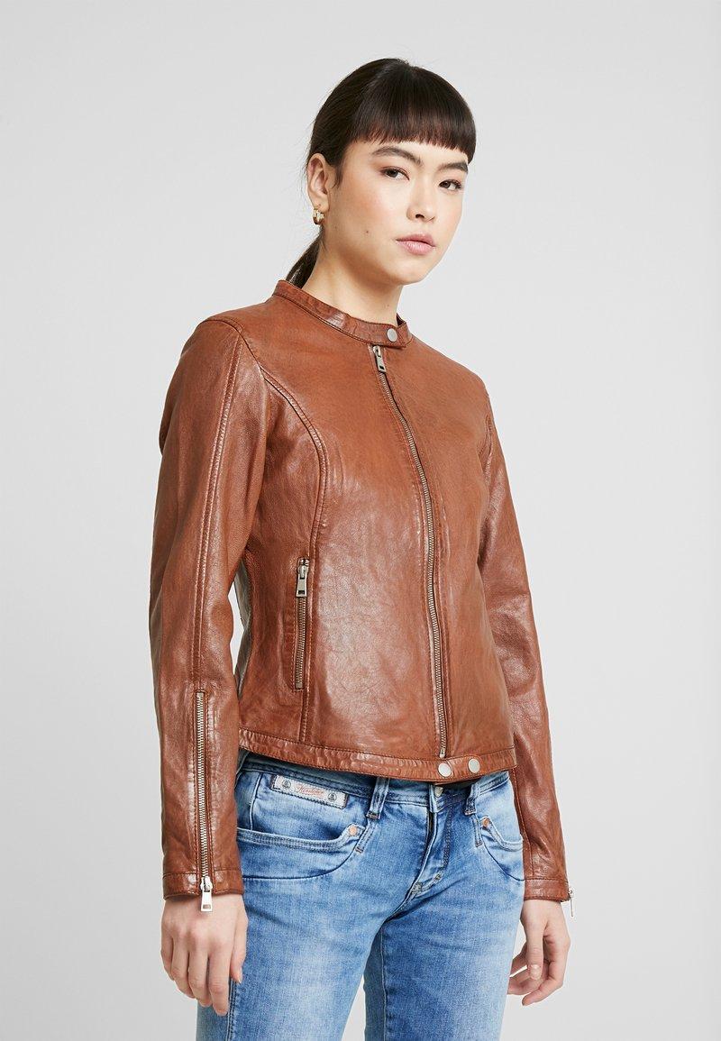 Freaky Nation - TULA - Leather jacket - cognac