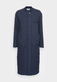 esmé studios - LONG LOOSE QUILT COAT - Classic coat - dark sapphire - 3