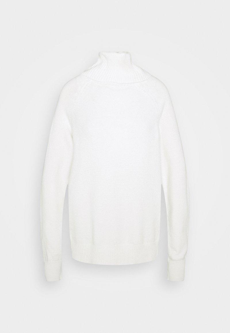 Vila VIRIL COWL NECK - Strickpullover - white alyssum/weiß qqBgCU