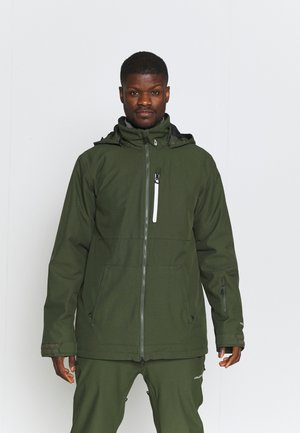 DEADLY STONES JACKET - Snowboard jacket - saturated green