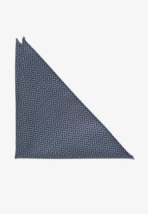 Pocket square - dunkelblau/weiß