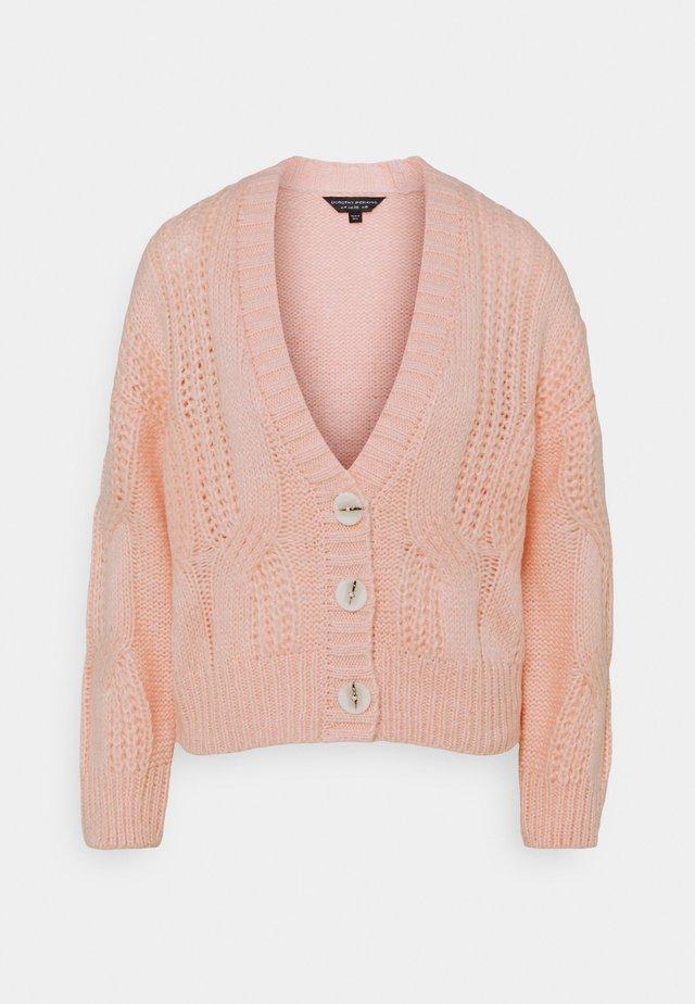 CABEL V NECK BUTTON FRONT CARDIGAN - Cardigan - blush