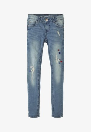 MIT STRASSSTEINEN - Slim fit jeans - blue denim/blue