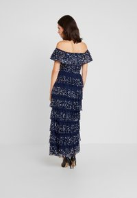 Maya Deluxe - ALL OVER EMBELLISHED TIERED BARDOT MIDAXI DRESS - Occasion wear - navy - 3