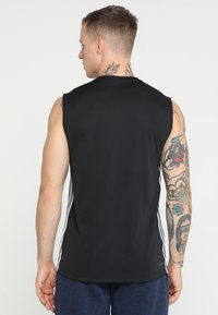 adidas Performance - 3STRIPES AEROREADY SLEEVELESS T-SHIRT - Funktionströja - black - 2