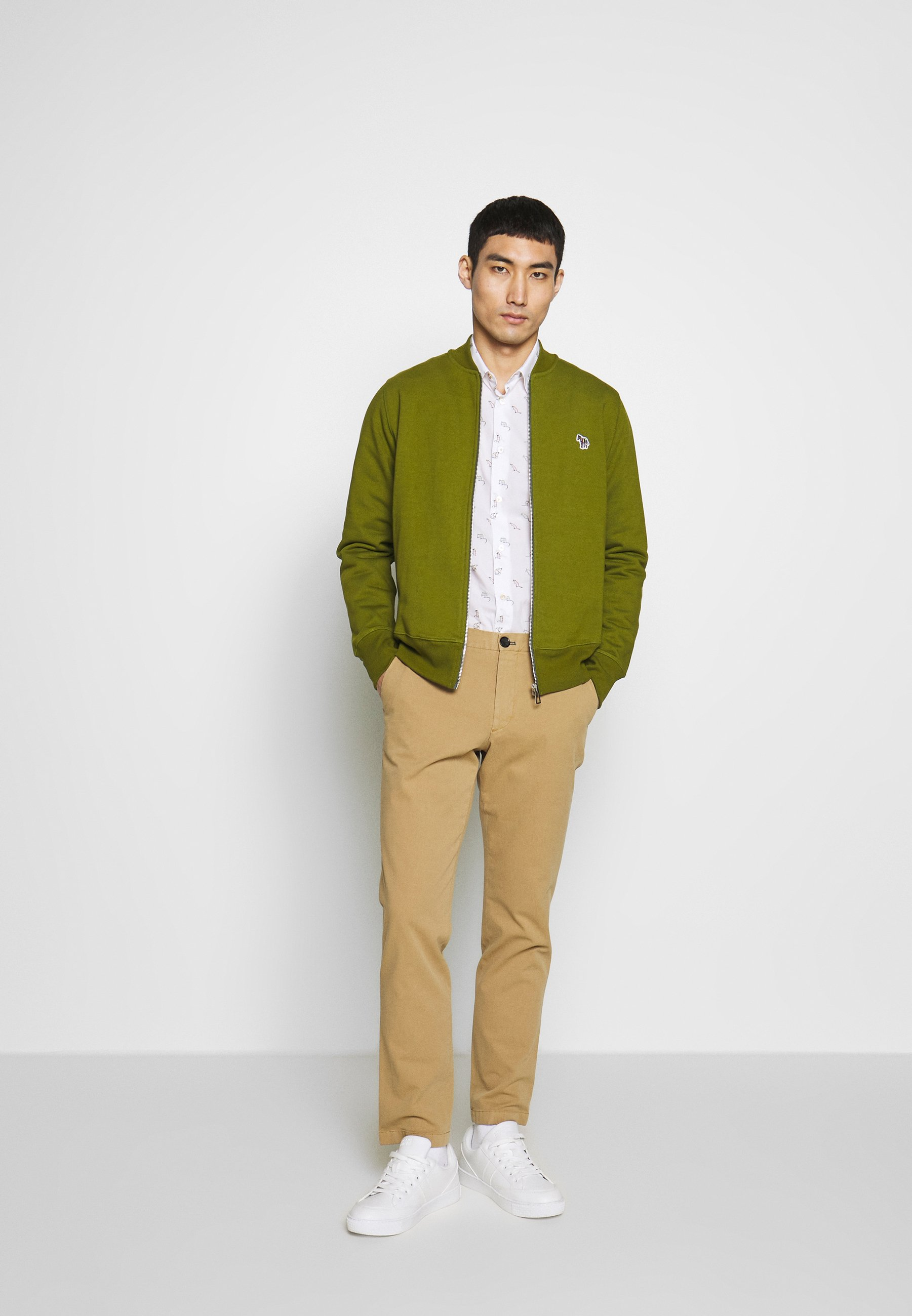 PS Paul Smith BOMBER JACKET - veste en sweat zippée - olive