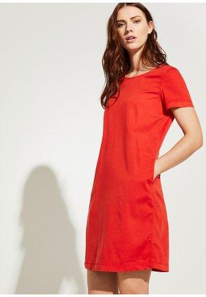 Denim dress - red