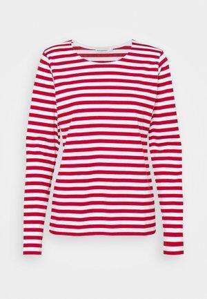 MARI - Long sleeved top - white/red