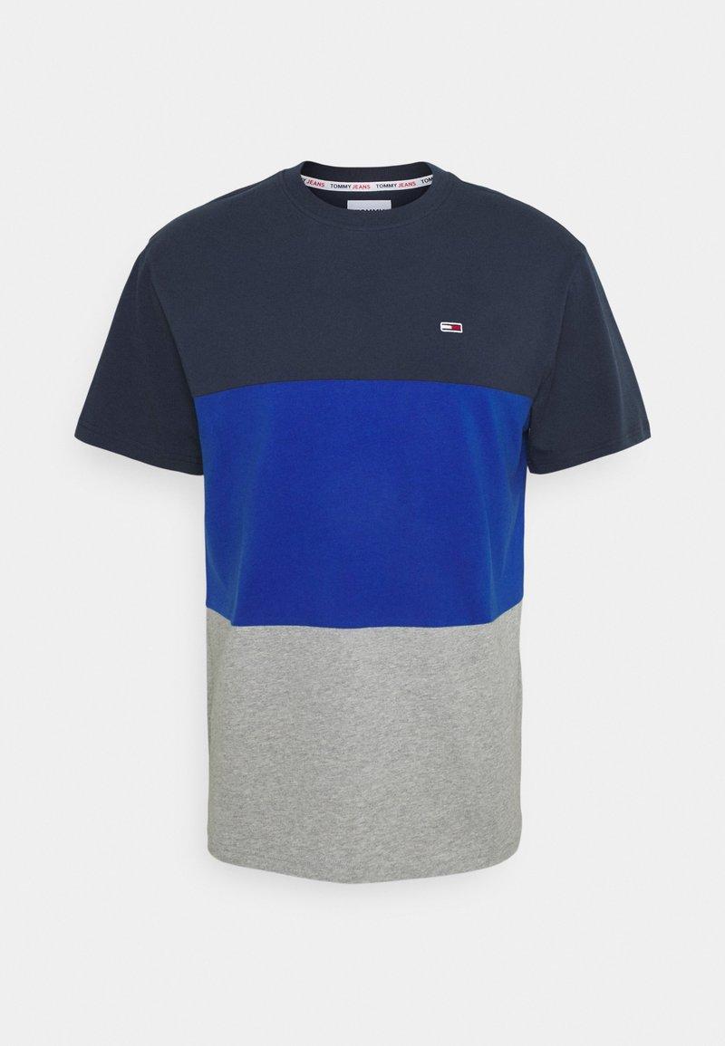 Tommy Jeans - CLASSIC COLOR BLOCK TEE - Triko spotiskem - providence blue/multi