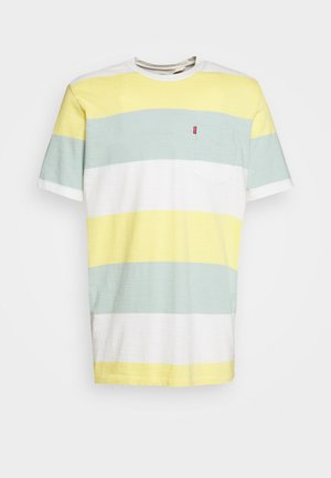 SUNSET POCKET TEE - Camiseta estampada - yellow