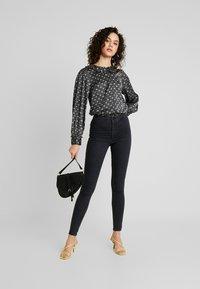 Topshop - JONI - Jeans Skinny Fit - black denim - 1