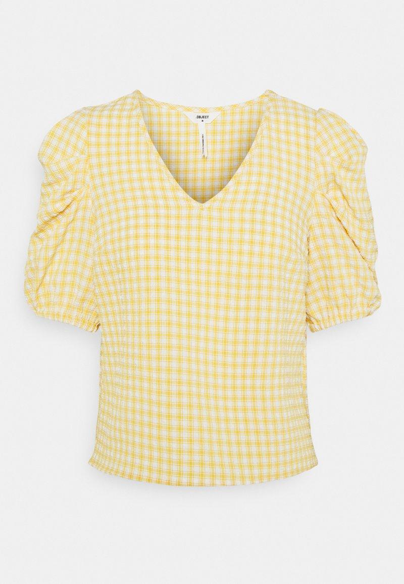 Object Petite - OBJTAMAR  - T-shirt con stampa - bamboo/sandshell