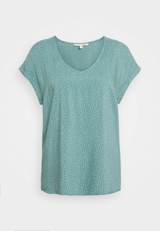 PRINTED SPORTY BLOUSE - Bluzka - mint/white