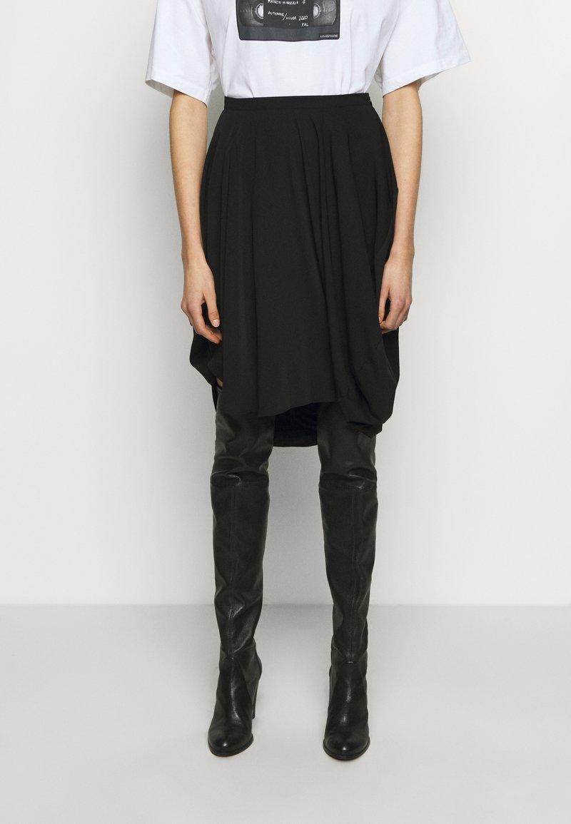 MM6 Maison Margiela - Áčková sukně - black