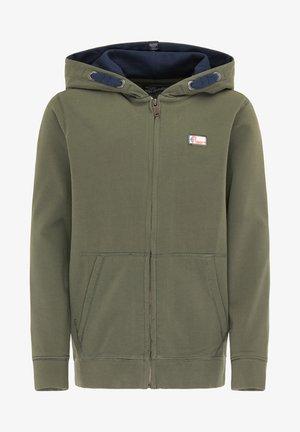 Zip-up hoodie - dark army