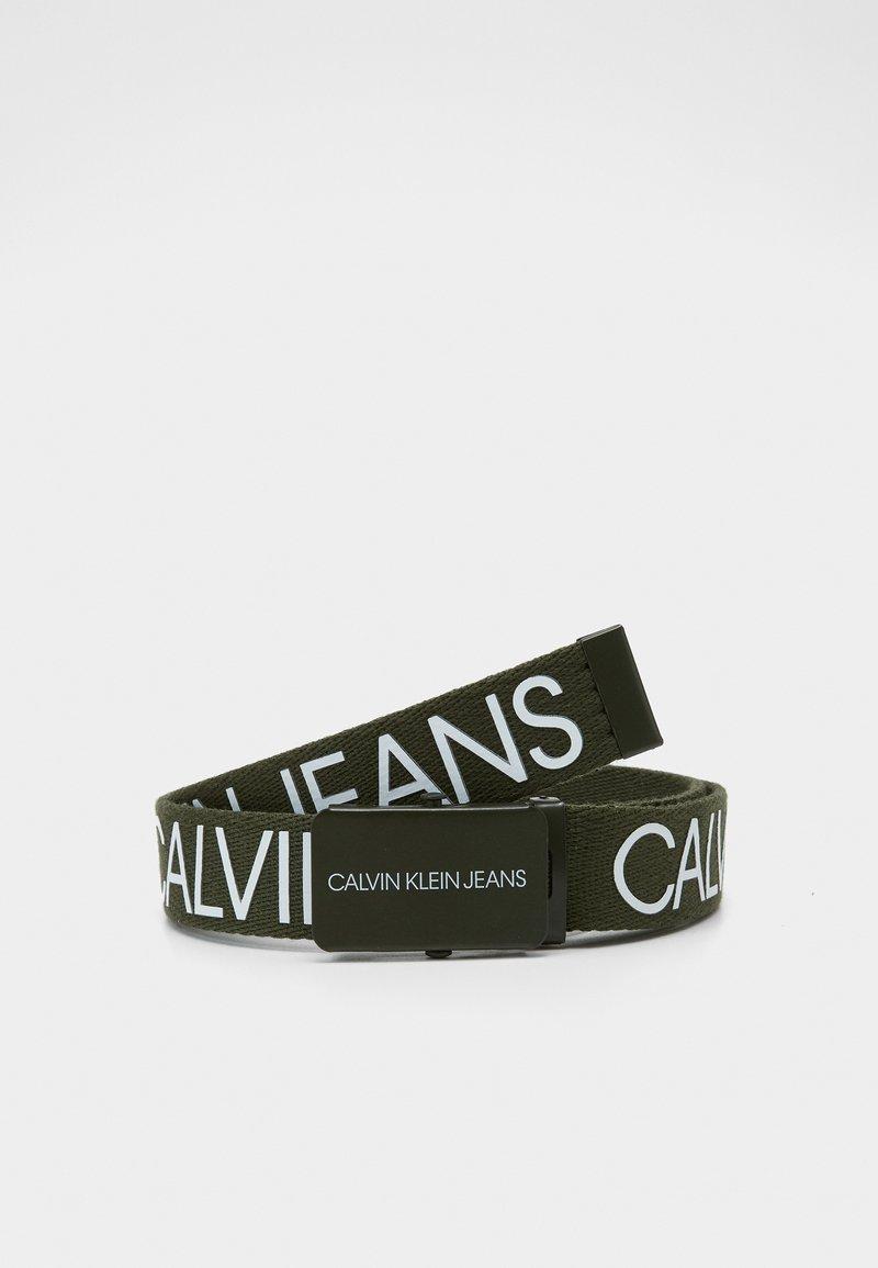 Calvin Klein Jeans - LOGO BELT UNISEX - Pásek - green