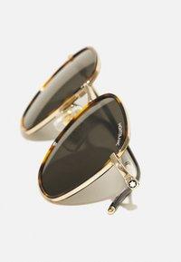 Mont Blanc - UNISEX - Sunglasses - havana/gold-coloured/grey - 4