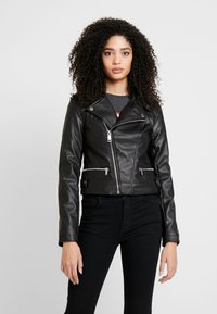 Guess - KHLOE JACKET - Giacca in similpelle - jet black - 0