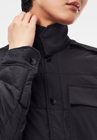G-Star - QUILTED OVERSHIRT - Jas - black - 3