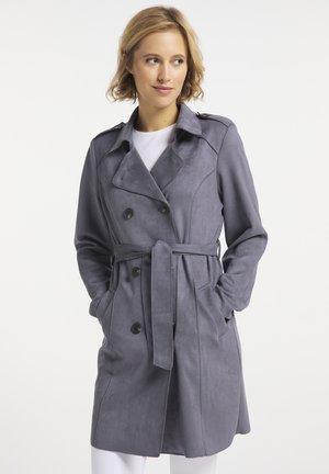 Trenchcoat - grau blau